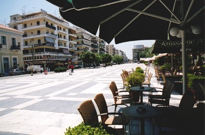 The central square in Kalamata 